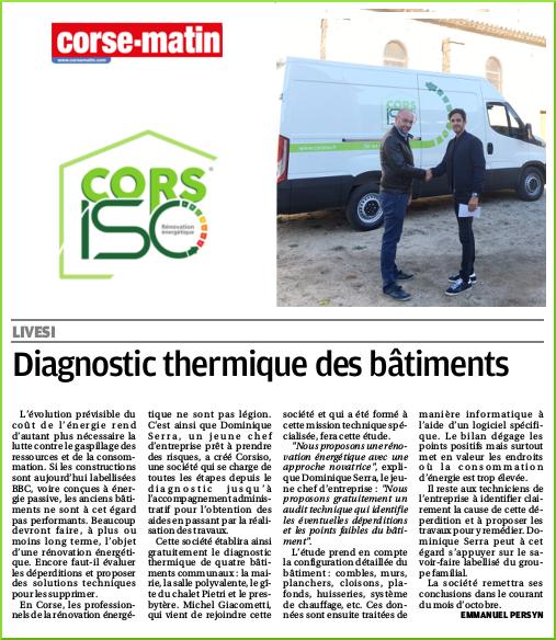 Parution Corsiso-rénovation énergétique-Corse Matin