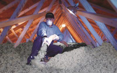Isolation par soufflage de laine minérale